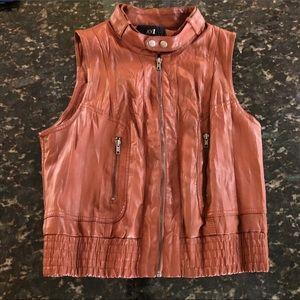 "Sleeveless ""Leather"" Vest"